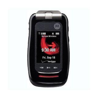 V860x Barrage Verizon Ruberrized Waterproof Flip Phone (No Camera