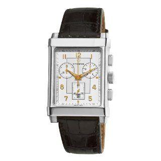 Eterna 1935 Quartz Chronograph Mens Black Leather Strap Watch 8290.41