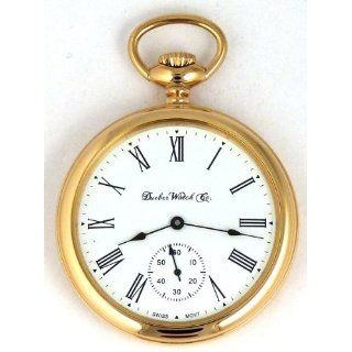 Pocket Watch with High Polish Gold Open Face Case Watches