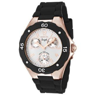 Rose Gold Plated Black Polyurethane Watch Watches