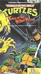 Teenage Mutant Ninja Turtles   Case of the Killer Pizzas VHS, 1989