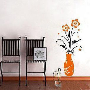 Flower Vase Home Decor Stickers Wall Decals Mural Art