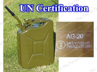 ALL New Green Nato Jerry Can / Fuel Gas Tank Comes w/ Spout