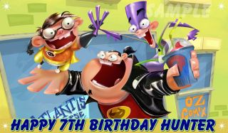 FANBOY AND CHUM CHUM # 2 FROSTING SHEET EDIBLE CAKE TOPPER IMAGE