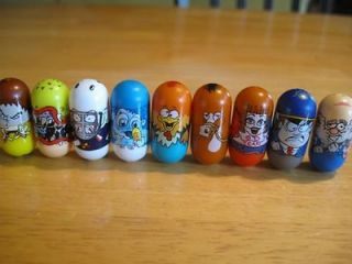 Mighty Beanz lot of 9 bad breath, goalie, abominable snow baby