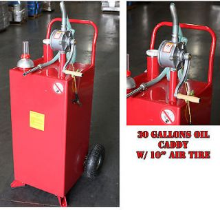 30 Gallon BIDIRECTIONAL GAS OIL DIESEL FLUID CADDY TRANSFER TANK w