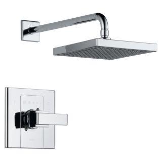 Ver Delta Arzo Chrome 1 Handle Shower Faucet Trim Kit with Rain