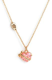 Juicy Couture Wish Faceted Heart Necklace