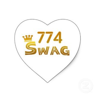 774 Massachusetts Swag Heart Sticker from Zazzle