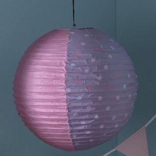 pin suspension papier boule rouge et blanc luminaires par on pinterest. Black Bedroom Furniture Sets. Home Design Ideas