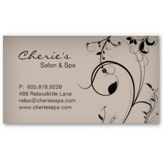 100 Turquoise blue brown Floral Swirls Gift Card Business Card from