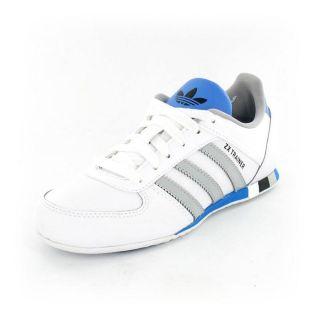 Adidas   Zx trainer J Blanc, gris, bleu et noir   Achat / Vente BASKET