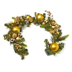 Winter Lane Battery Operated 5 LED Garland with Ornaments