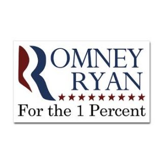 Design of the Month Romney Ryan for the 1% bumper sticker