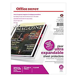 Office Depot® Brand Top Loading Sheet Protectors, Heavyweight, Clear