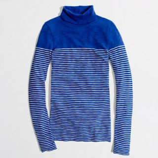 Factory artist turtleneck tee in stripe   long sleeve tees