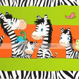 Wholesale Children Cartoon Zebra Home Decor Adhesive PVC Wall Sticker