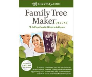 Buy Avanquest Family Tree Maker 2012 Deluxe, ancestry software, trace
