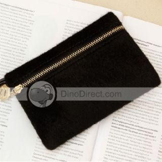 Wholesale Fashionable Metal Zipper Decoration Lint Women Clutch Bags