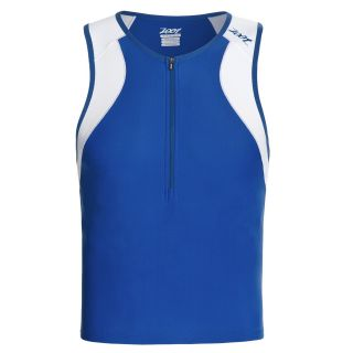 Zoot Sports Endurance Tri Tank Top   Zip Neck (For Men) in Classic