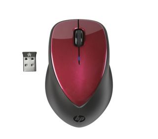 HP H1D33AA X4000 Wireless Laser Mouse   Ruby Red Deals  Pcworld