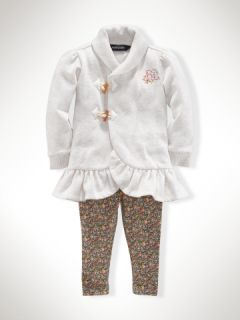 Toggle Tunic & Floral Legging   Infant Girls Sets   RalphLauren
