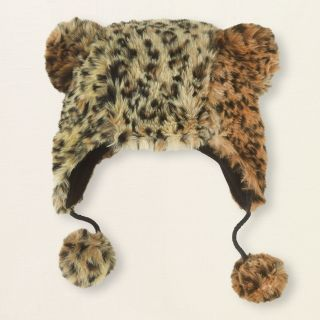 girl   leopard faux fur hat  Childrens Clothing  Kids Clothes  The