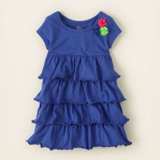 baby girl   dresses   tiered knit dress  Childrens Clothing  Kids