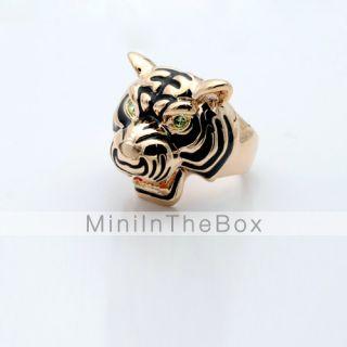 cabeza de tigre en forma de diamante del anillo tachonado #00296690