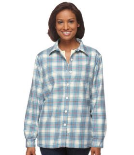 Fleece Lined Flannel Shirt Corduroy and Flannel   at L