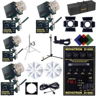 Buy the Novatron Digital Studio Kit D1500, with 4 Fan Cooled Heads