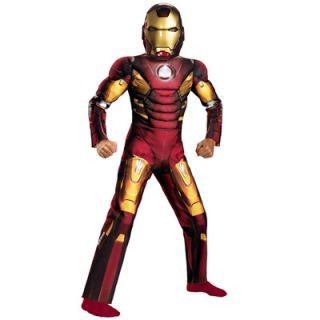Avengers Iron Man Mark VII Light Up Muscle Chest Boys Costume   Small