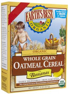 Earths Best Organic Wholegrain Oatmeal Cereal with Bananas