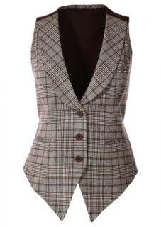 Weste mit Jersey Rücken designt von Maite Kelly sand kariert   bpc