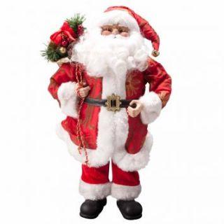Papai Noel 46cm Vermelho & Dourado