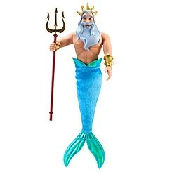 The Little Mermaid Classic King Triton Doll    12 H
