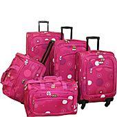American Flyer Fireworks 5 Piece Spinner Luggage Set