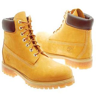 Mens Timberland 6 Premium Wheat Nubuck Leather Shoes