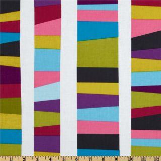 Kona Modern Quilts Scrappy Stripe Berry   Discount Designer Fabric