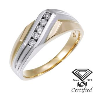 Amadora .20 ct. t.w. Mens Certified Diamond Wedding and Anniversary