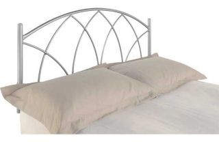 Gothic Metal Double Headboard   Silver. from Homebase.co.uk