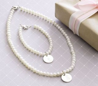 Girls Pearl Bracelet & Necklace