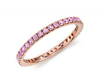 Pink Sapphire Eternity Ring in 18k Rose Gold  Blue Nile