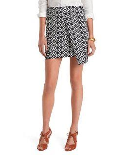 Cotton Ikat Print Wrap Skirt   Brooks Brothers
