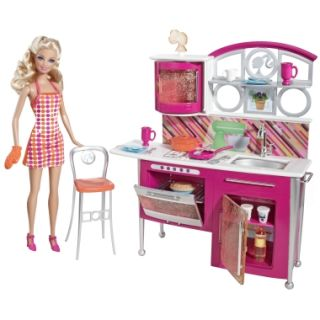 BARBIE STOVETOP TO TABLETOP Kitchen + Doll   Shop.Mattel