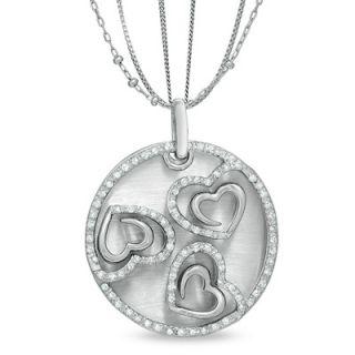 The Shared Heart™ 1/2 CT. T.W. Diamond Triple Heart Medallion in