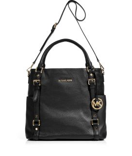 Michael Michael Kors Black Leather Tote  Damen  Taschen  STYLEBOP