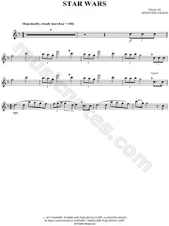 John Williams   Star Wars   Flute Sheet Music (Flute Solo)