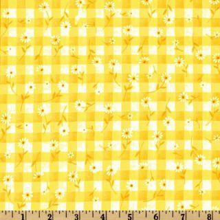 Woven 1/4 Daisy Gingham Maize   Discount Designer Fabric   Fabric
