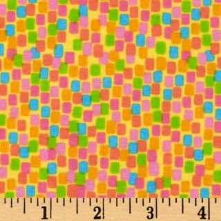 Parfait Flannel Square Dots Banana   Discount Designer Fabric